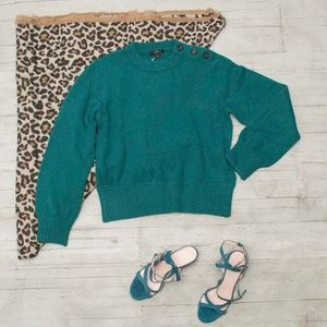 NWT J. Crew Button Detail Sweater Supersoft Yarn